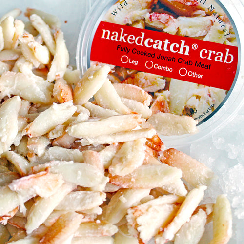 NakedCatch Frozen Jonah Crab Leg Meat - 1 lb