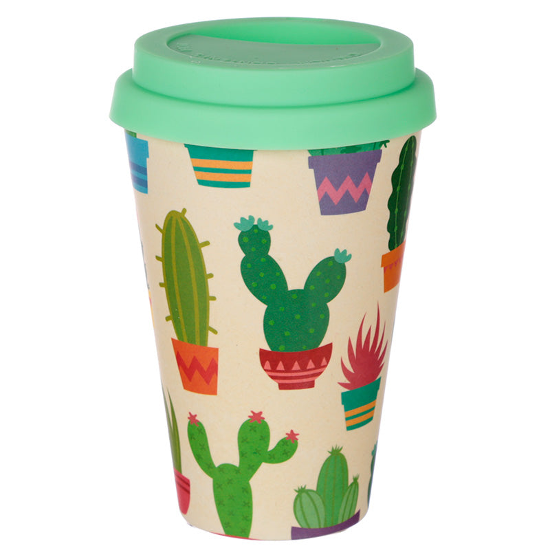 Bambootique Eco Friendly Cactus Design Travel Cup