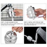 Stainless Steel Bathroom Shower Filter - Remove Chlorine From Your Water