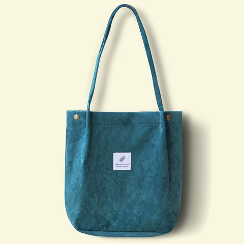 Corduroy Shoulder Bag Ladies Casual Tote