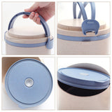 Round Wheat Straw Lunchbox