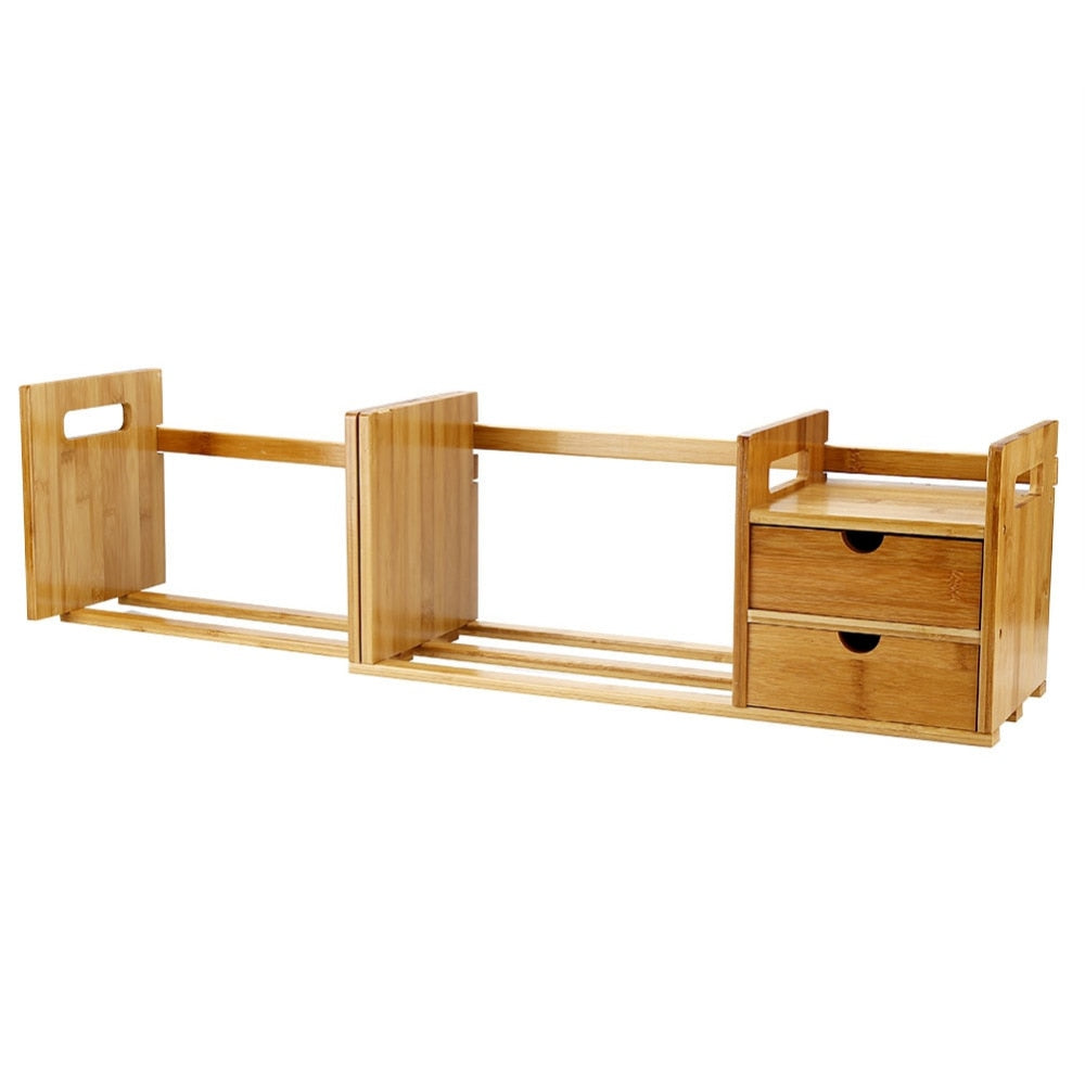 Tabletop Bookcase Bamboo Wood