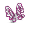 Silhouette Ring Butterfly Ruby