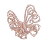 Silhouette Ring Butterfly Rose Gold