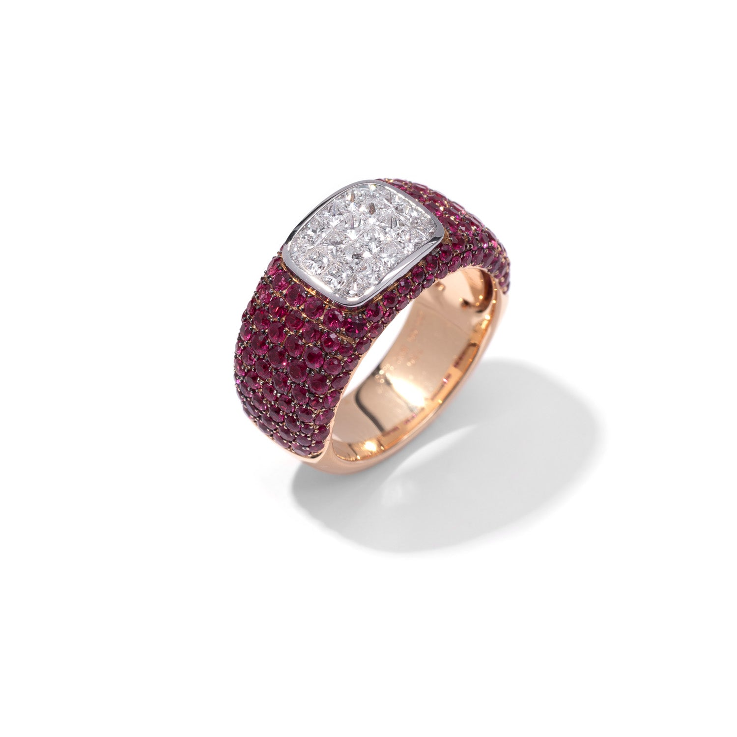 Classic Ring, Diamond Ruby