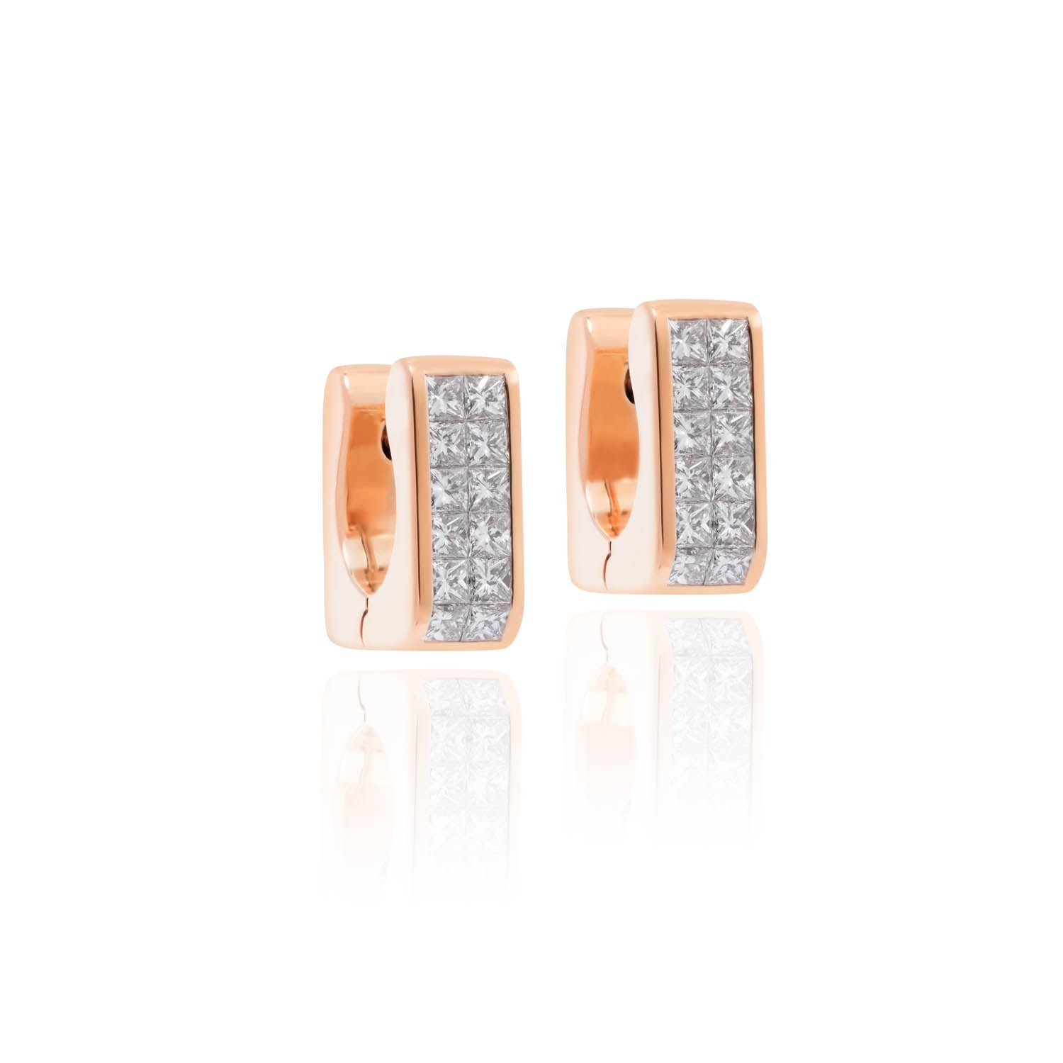 Classic Earrings, Diamond Rectangular