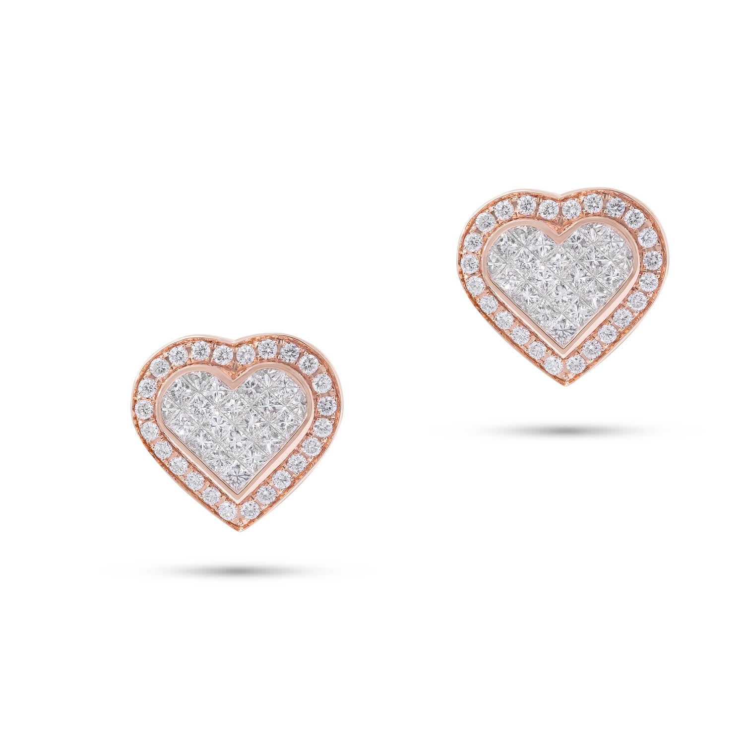 Classic Earrings, Diamond Heart