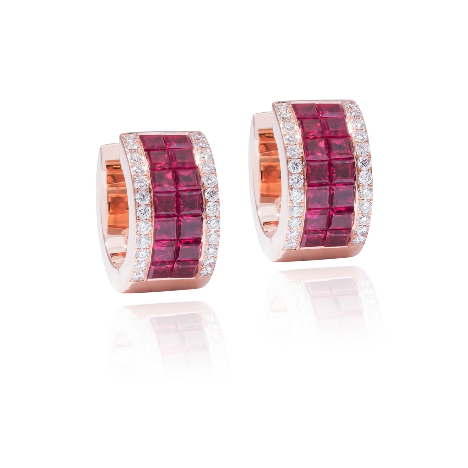 Classic Earrings, Diamond Ruby