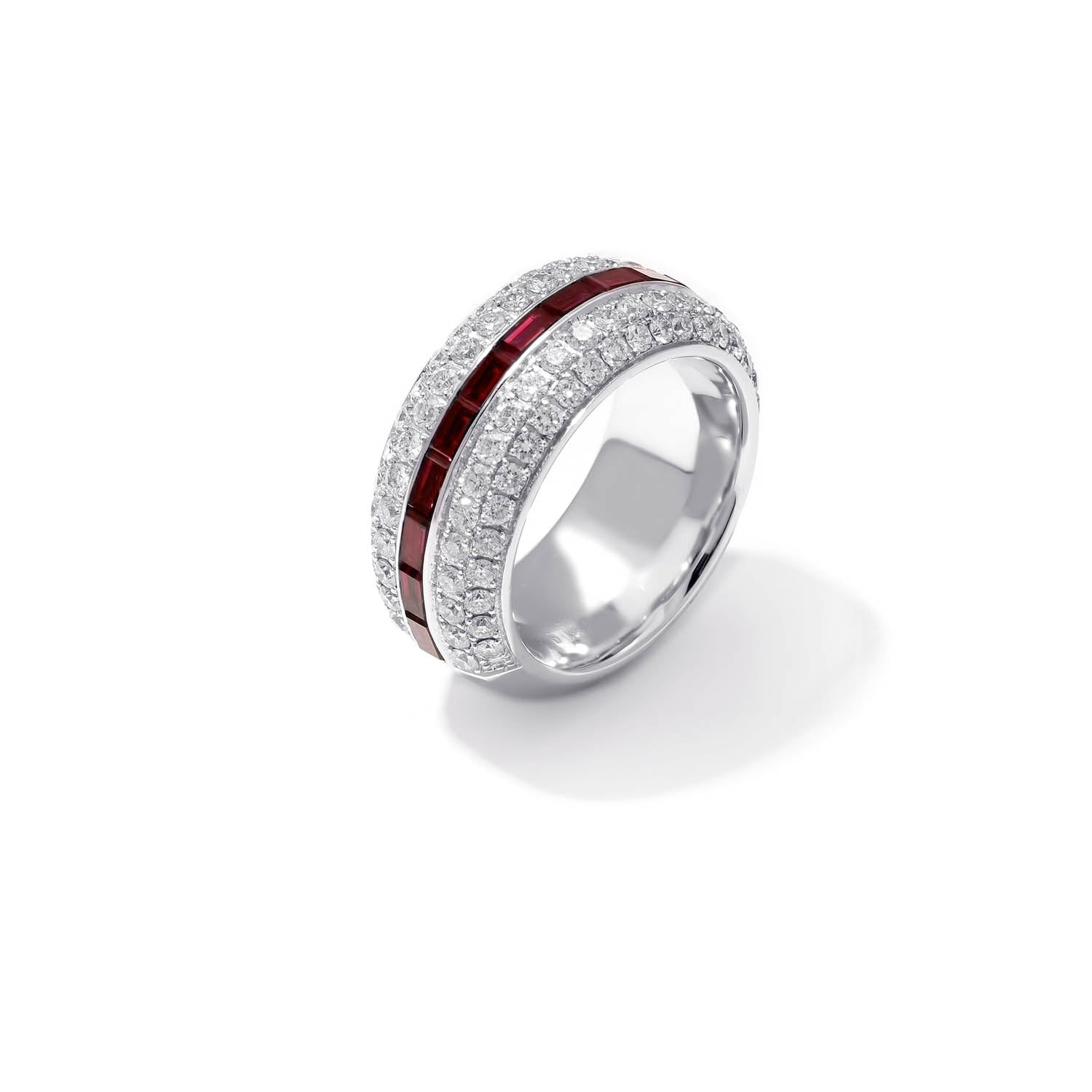 Classic Band Ring, Diamond Ruby