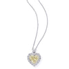 Classic Pendant, Diamond Heart Center