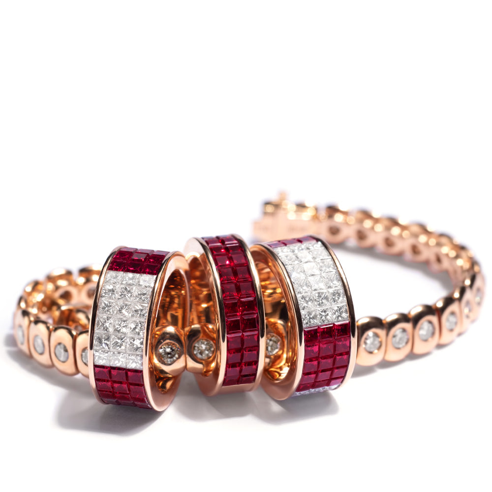 Classic Band Ring, Ruby
