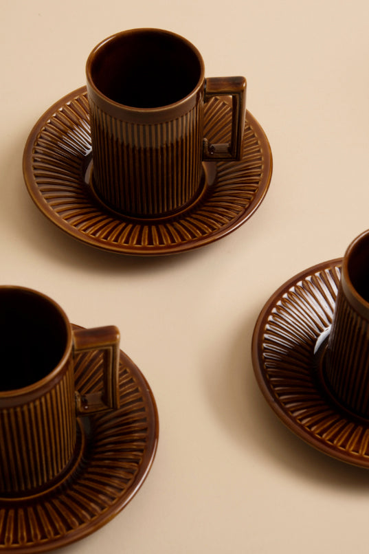 Vintage Coffee Cups, Set of Four