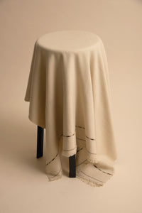 Wool Shawl in Sand Beige