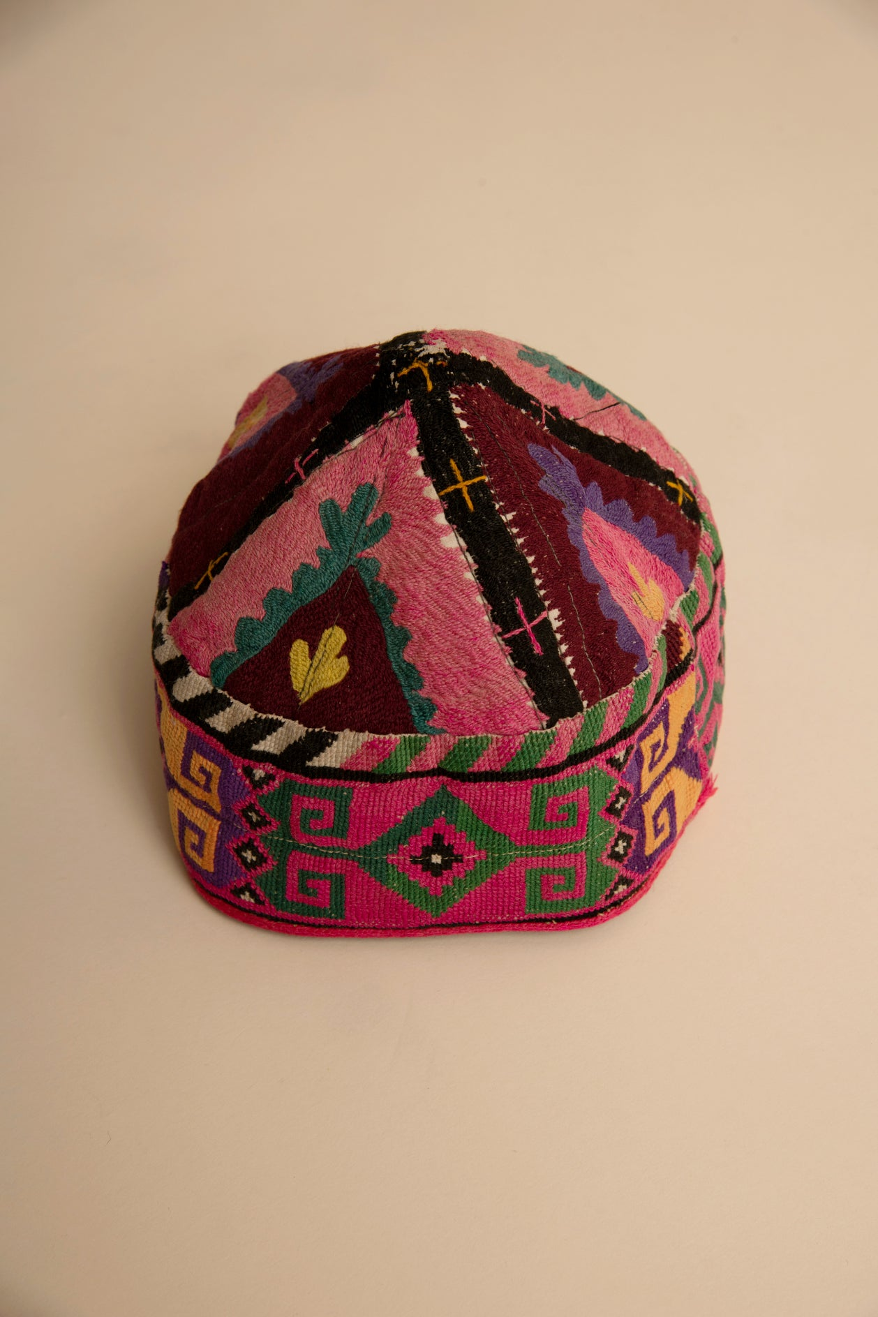 Hand Embroidered Antique Cap