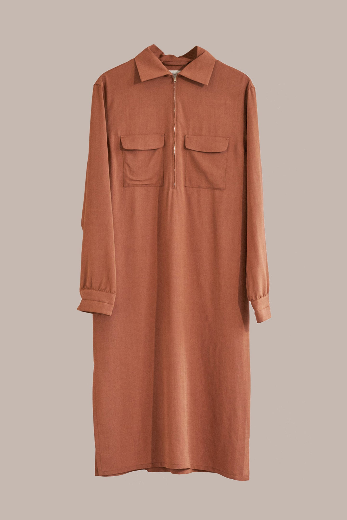 Lemaire, Zipped Dress Copper