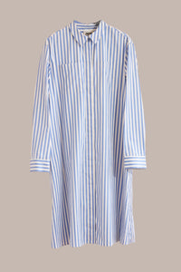 Maison Rabih Kayrouz, Stripe Poplin Dress Light Blue
