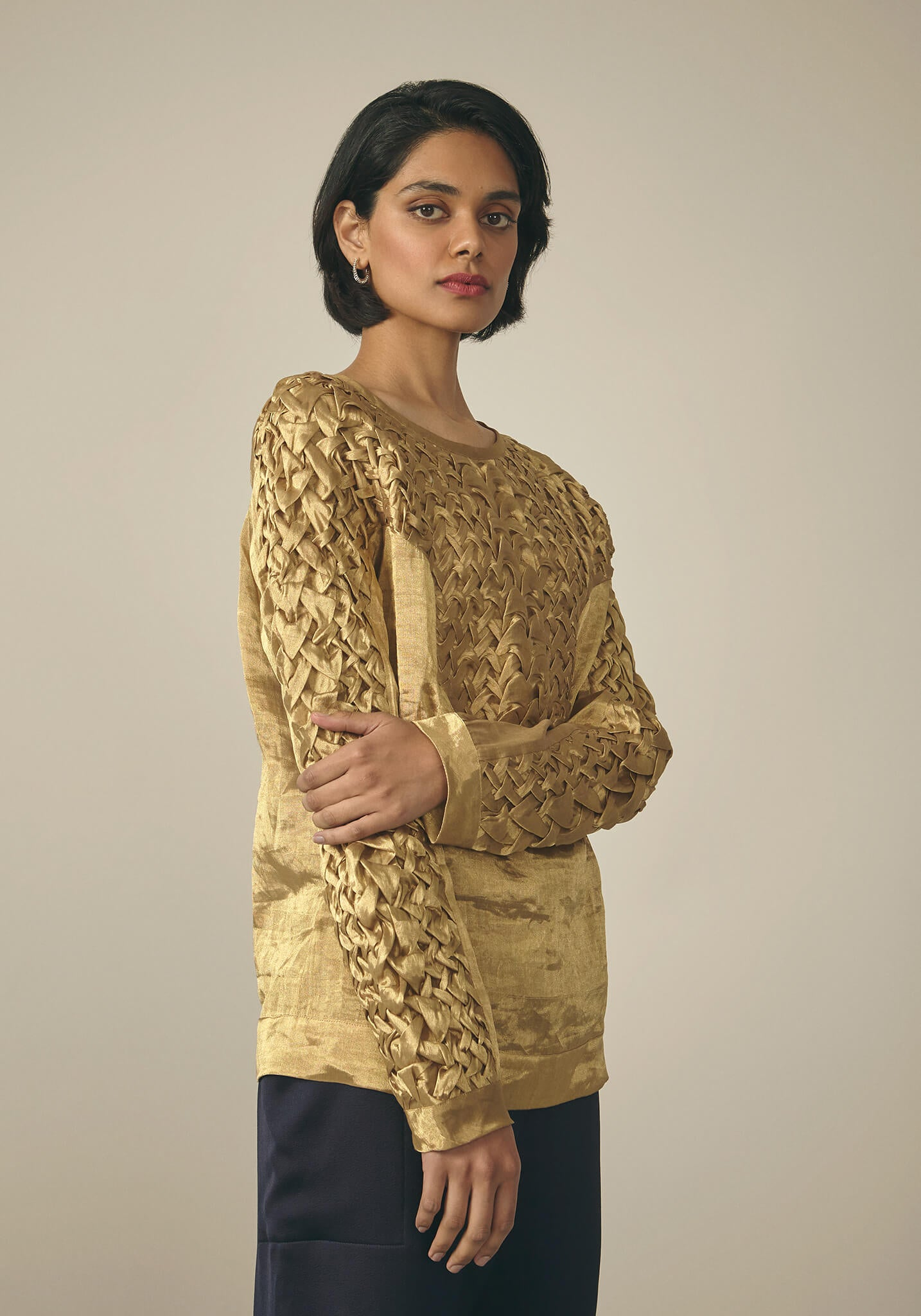 Rashmi Varma, Gold Smock Top