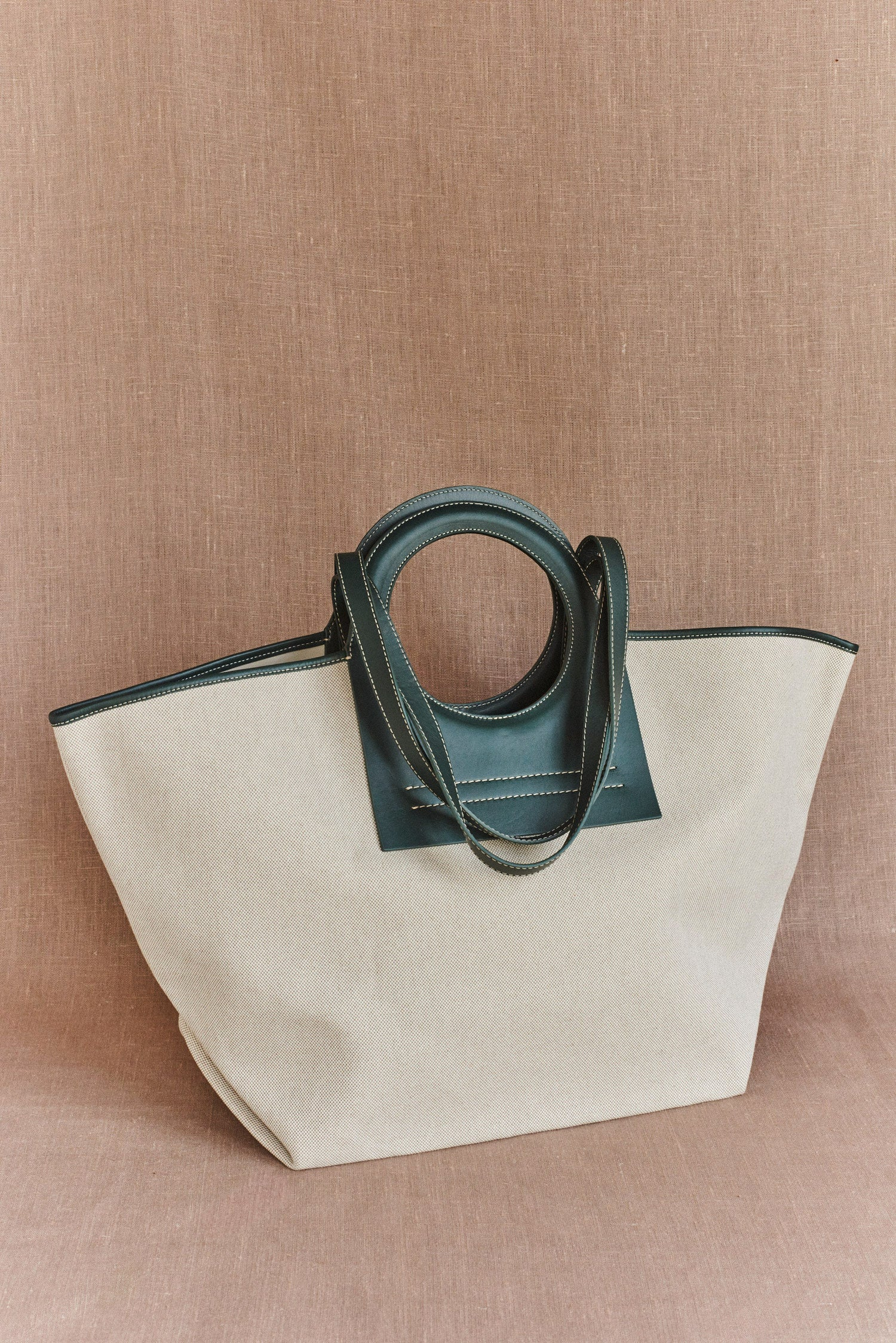 Hereu, Cala Large Leather-Trimmed Canvas tote