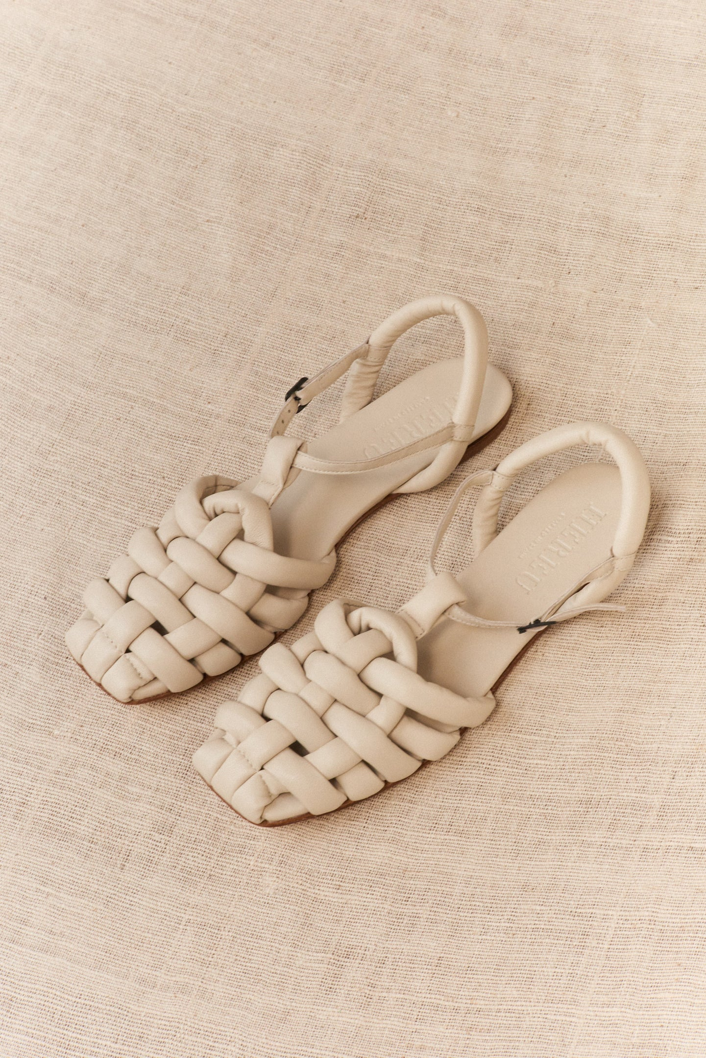 Hereu, Cabersa Padded Fisherman Sandal Cream