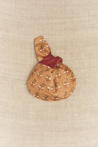 Koel, Mini Tie Bag Beige and Maroon Floral Print
