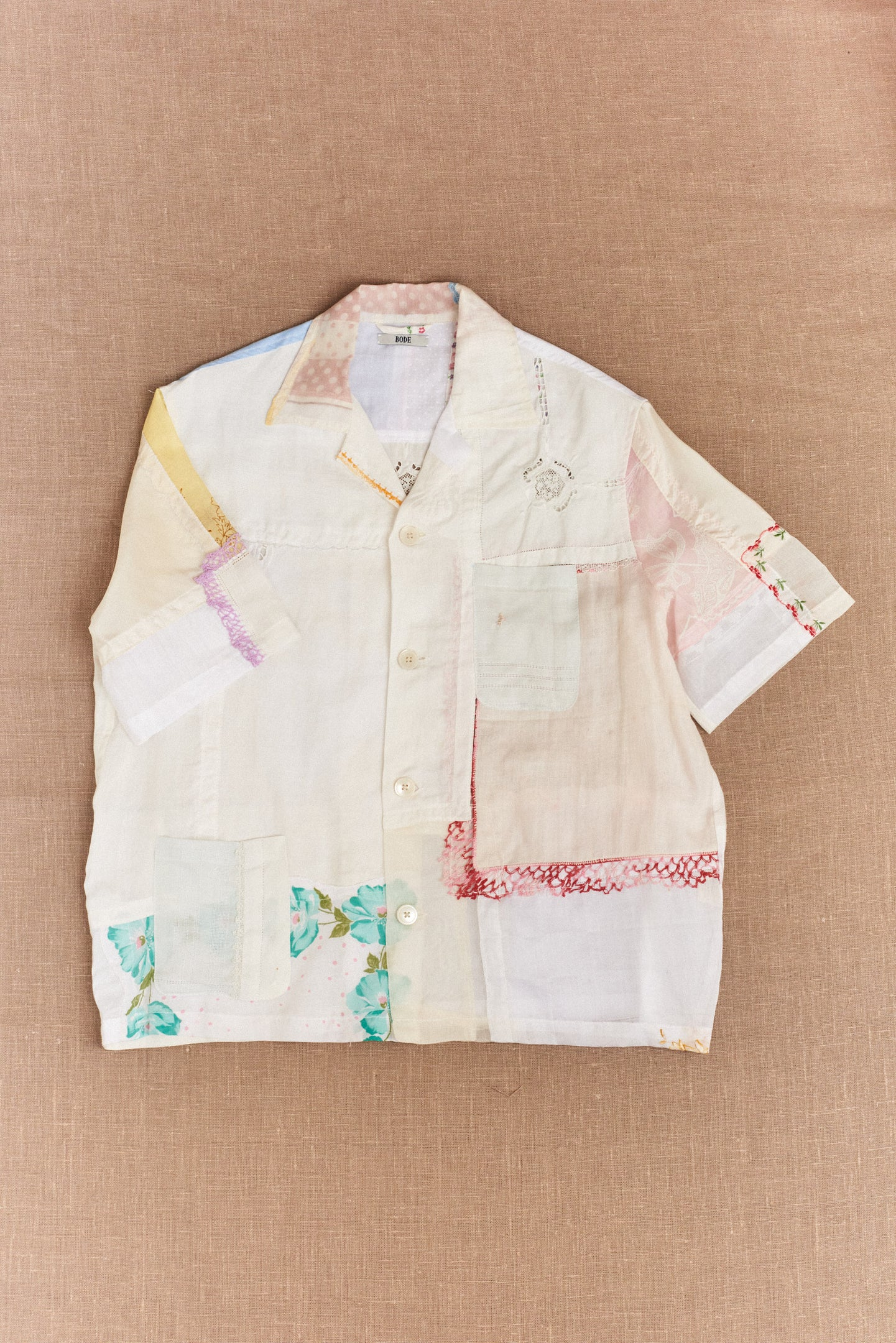 Bode, One-Of-A-Kind Handkerchief Patchwork Shirt