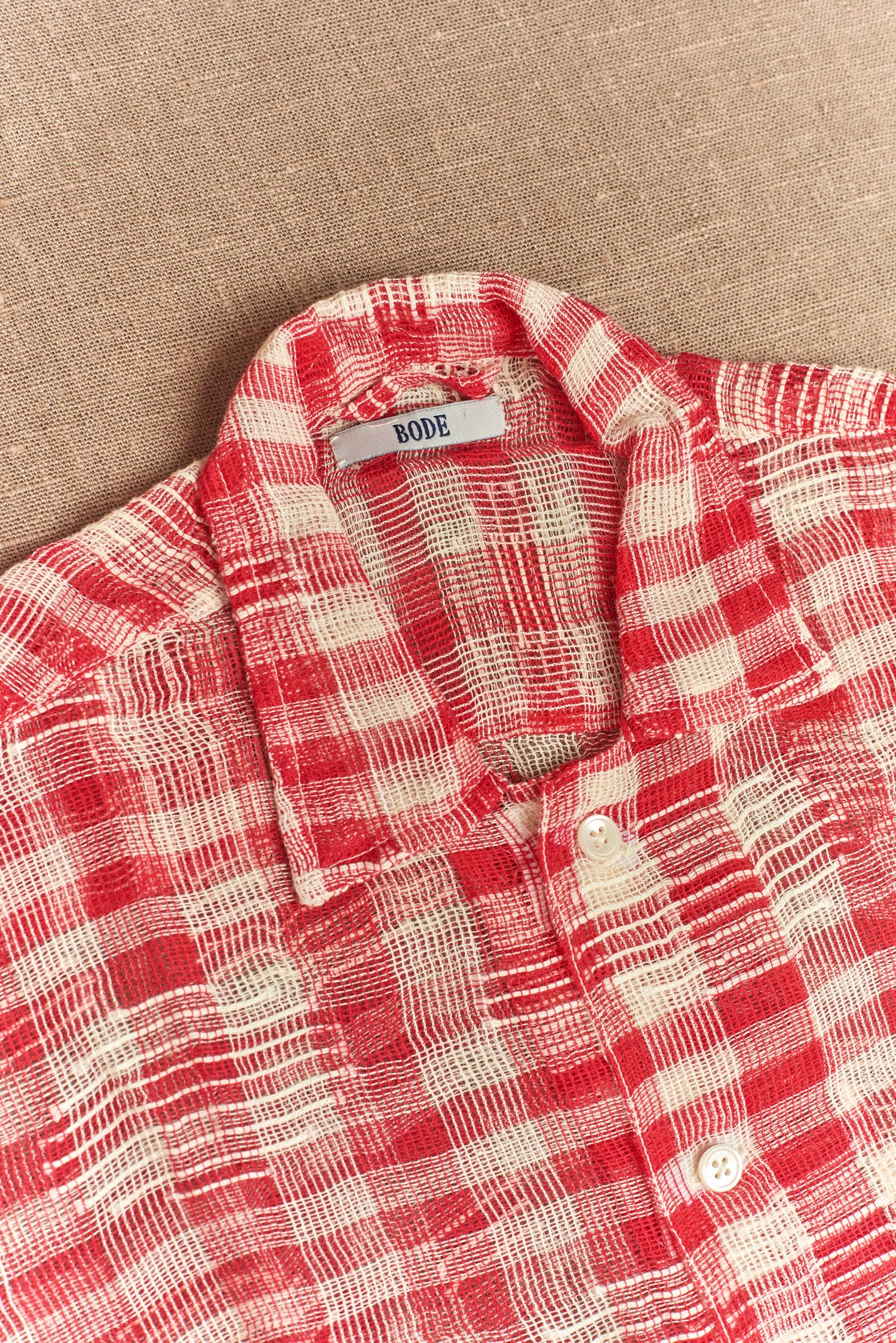 Bode, Gingham Sheer Shirt