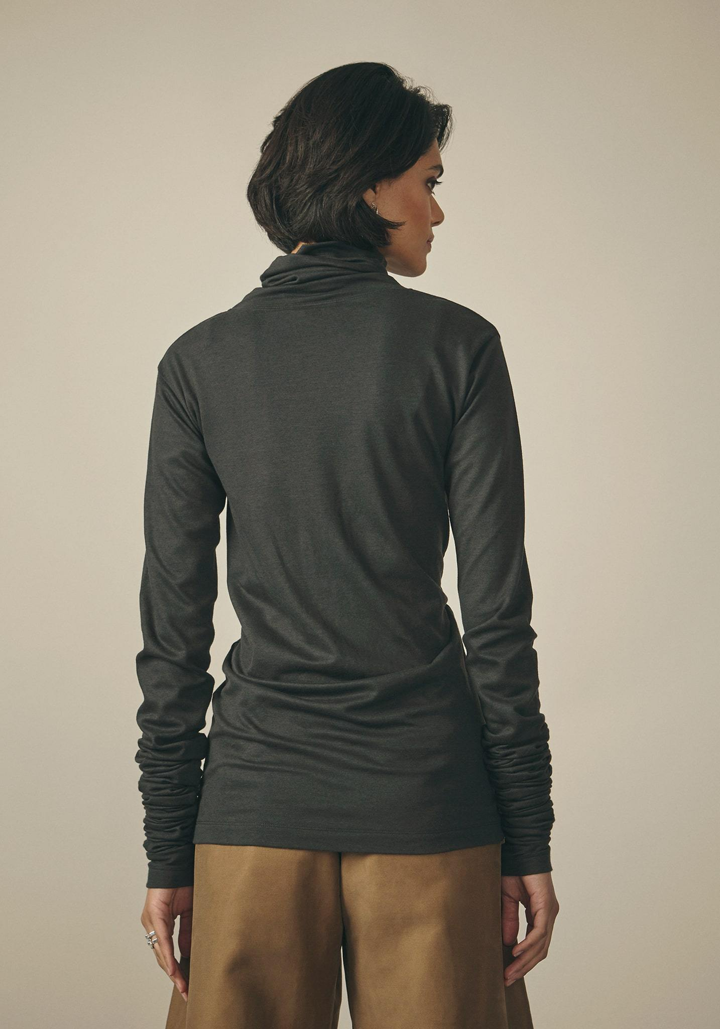 Lemaire, Cotton Woven Anthracite Sweater