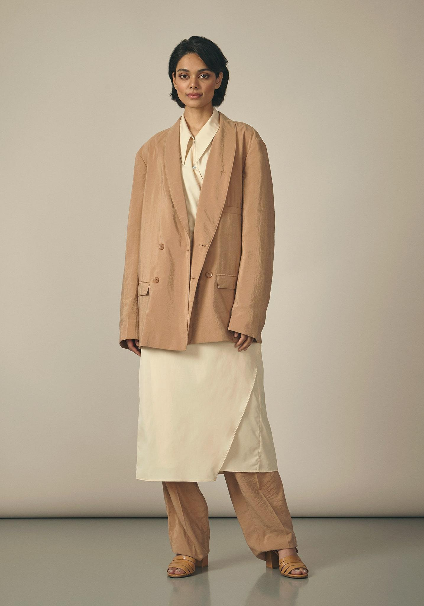 Lemaire, Tan Double-Breasted Jacket