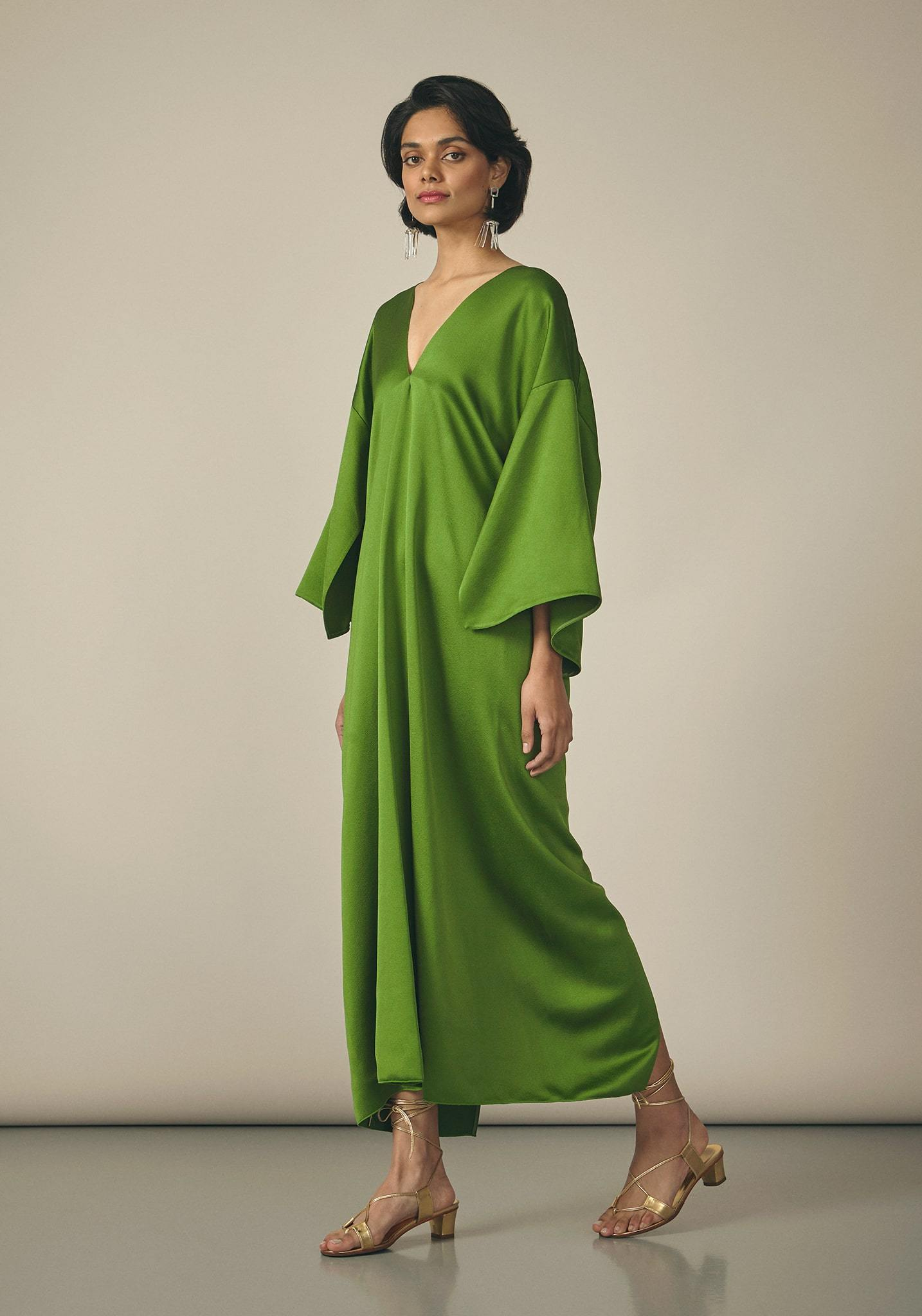 Maison Rabih Kayrouz, Satin Green Dress