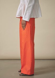 Batsheva, Daisy Cotton Wide Leg Trousers