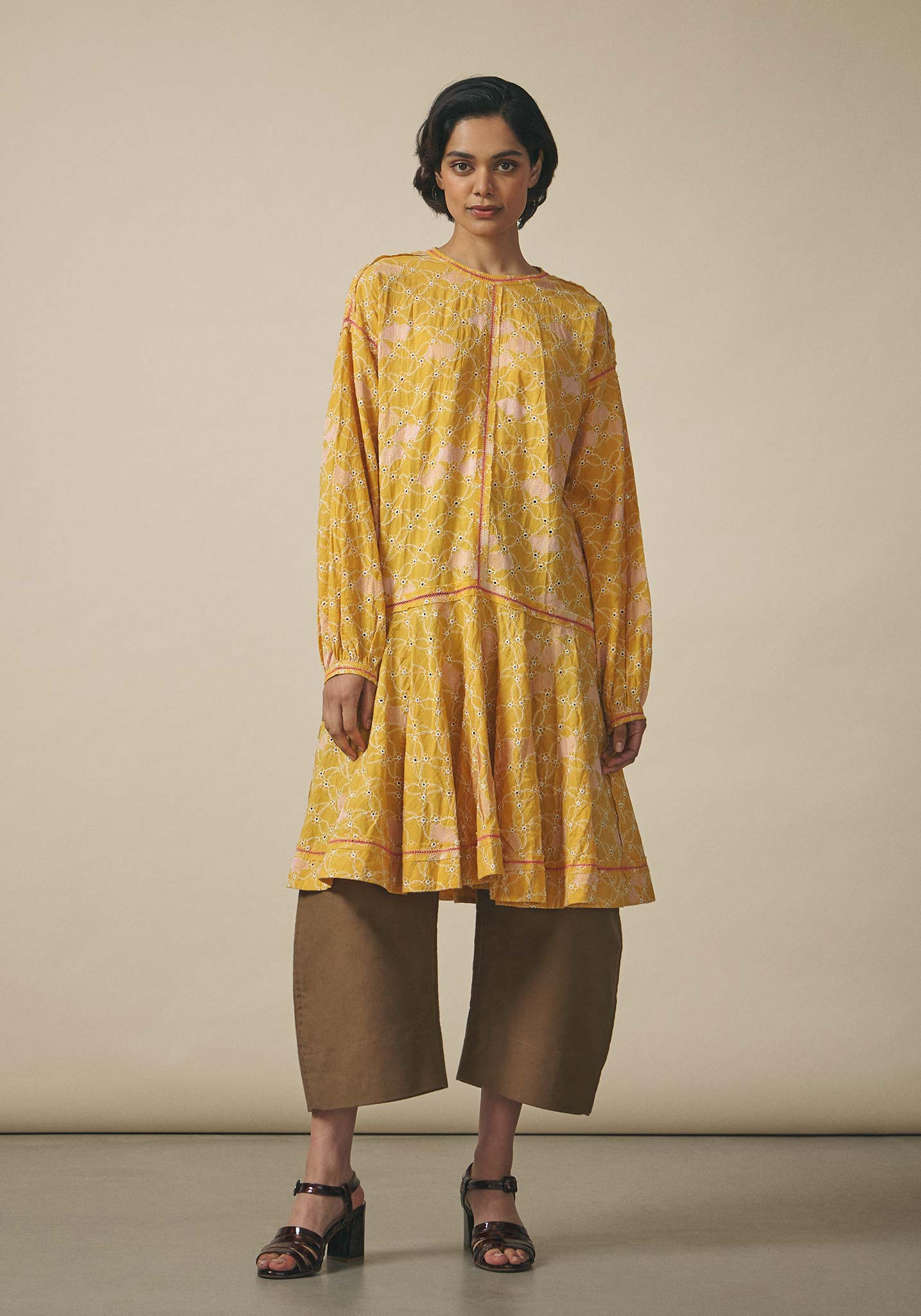 Untitled Co., Embroidered Cotton Dress