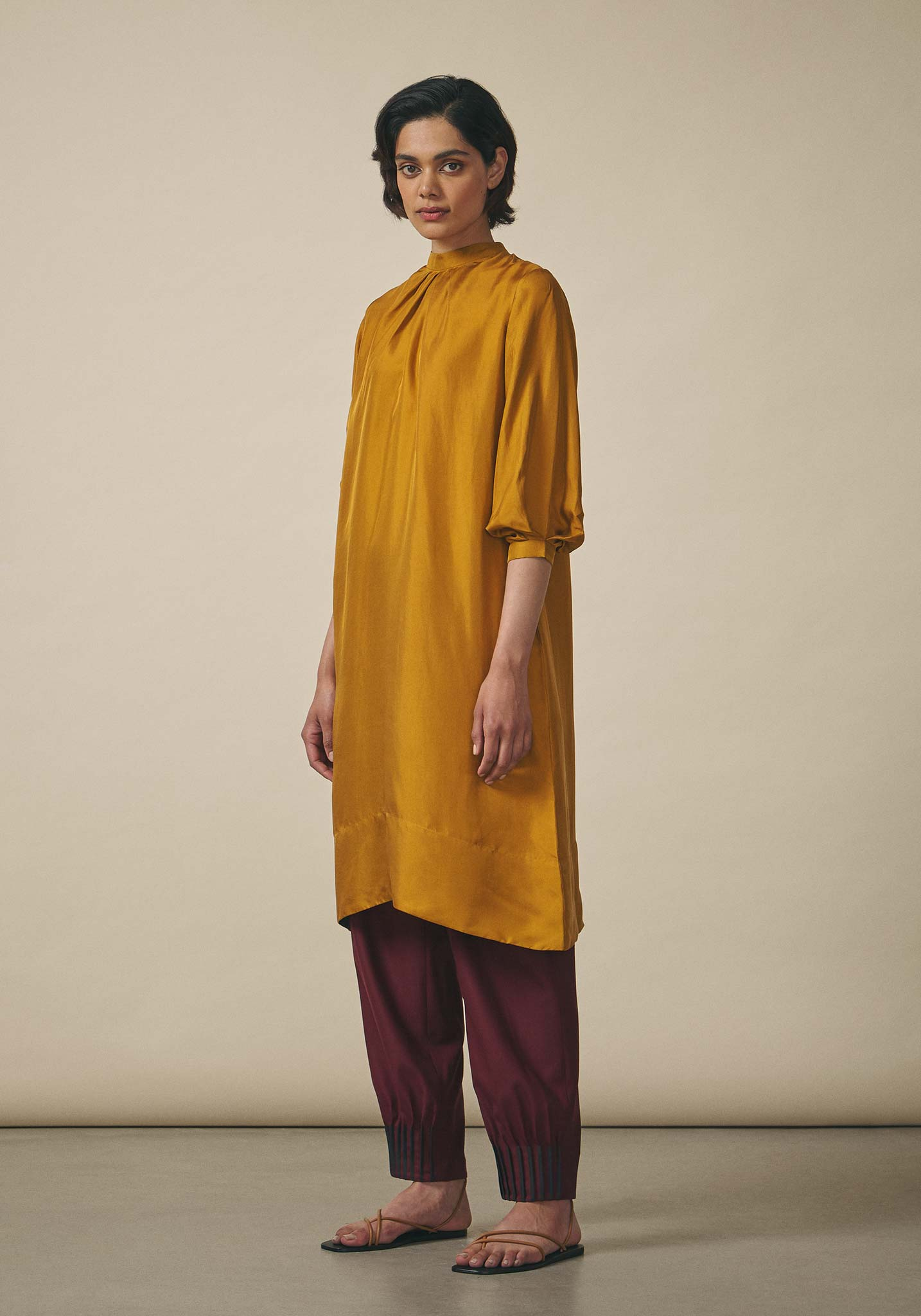 PayalKhandwala, Collared Silk Tunic