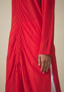 Rashmi Varma, Braided Red Kurta