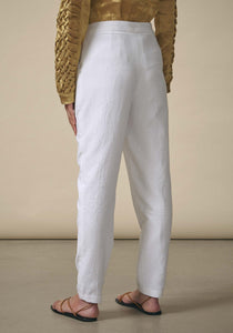 Rashmi Varma, White Pleated Trousers