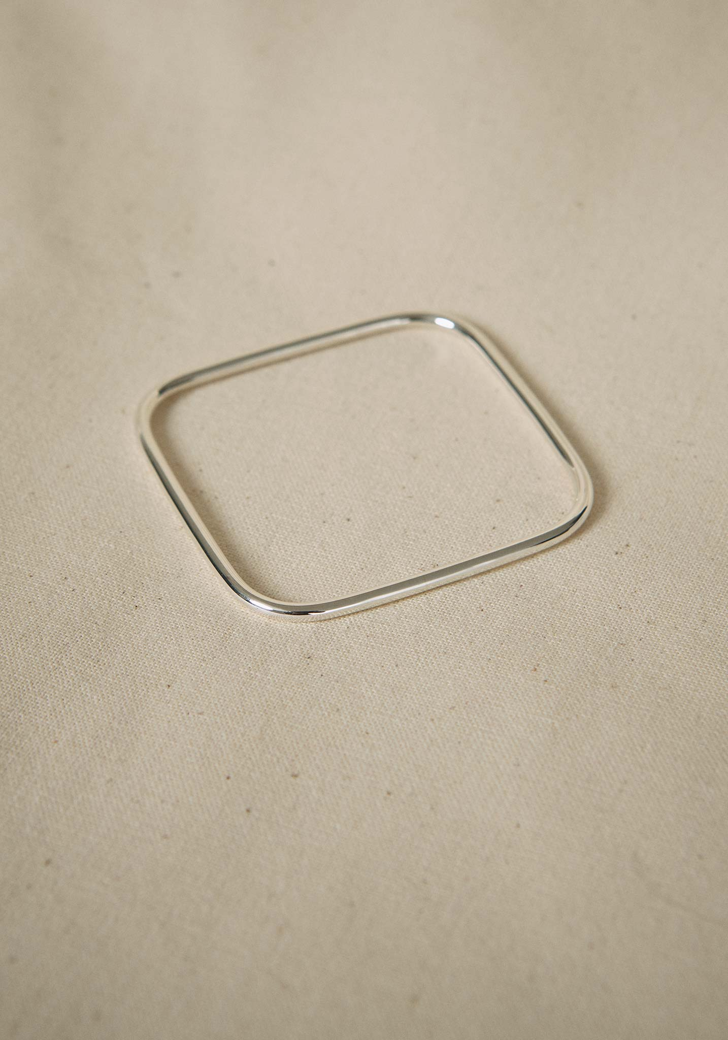 Zohra Rahman, Sterling Silver Square Churi Bangle