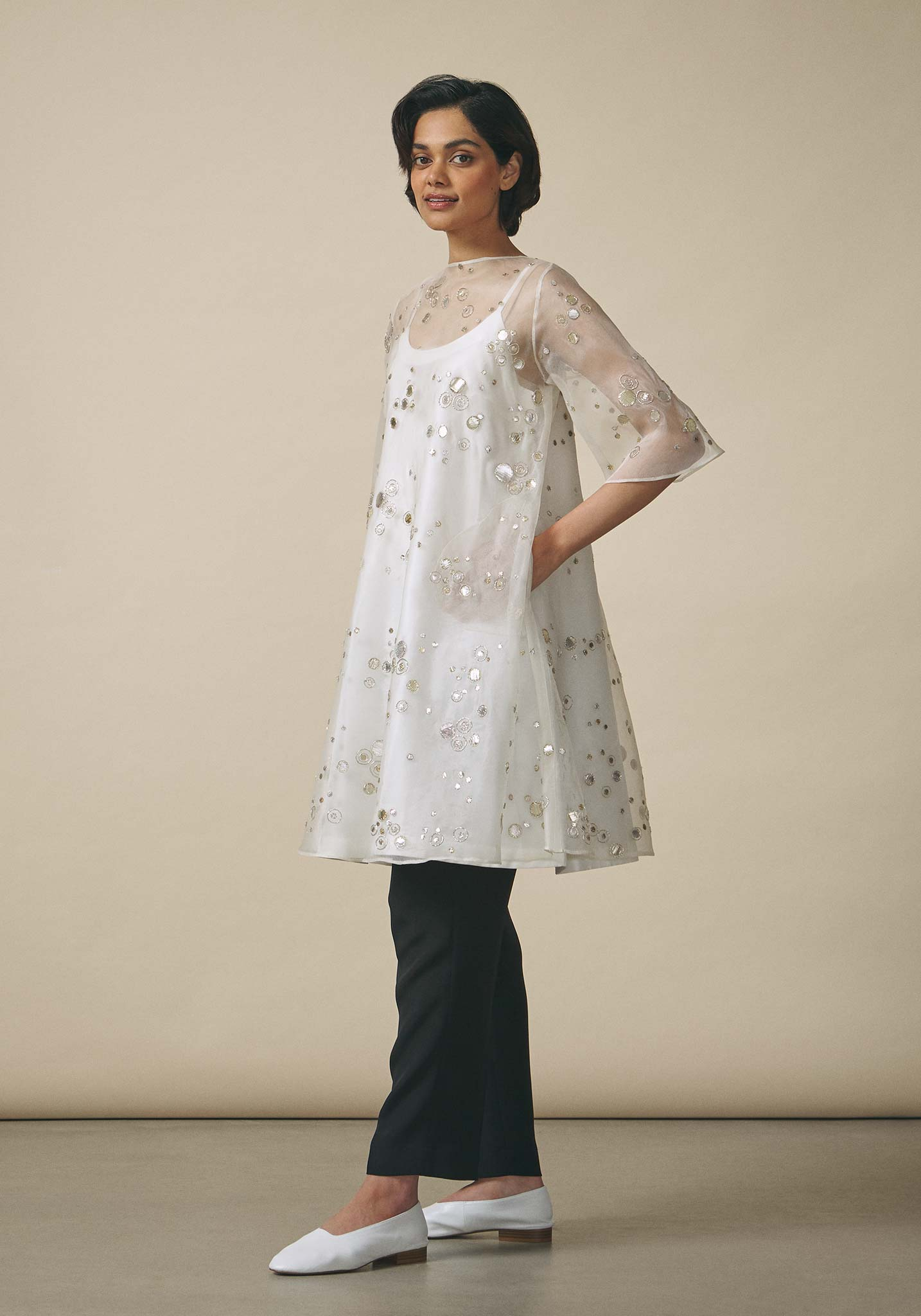 Zara Shahjahan, A-Line Organza Dress