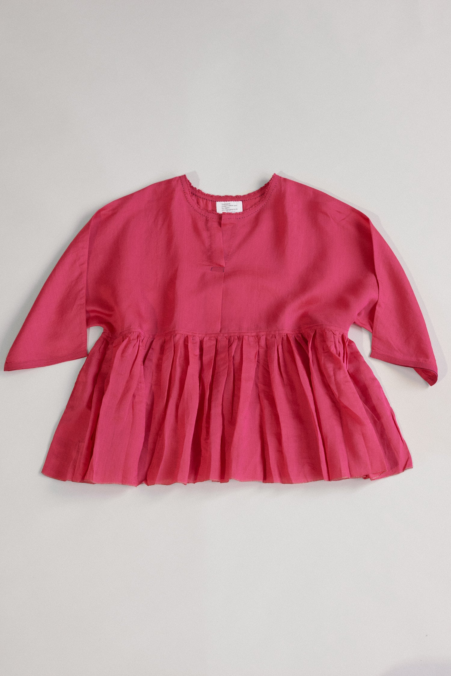 Runaway Bicycle, The Right Rouge Handwoven Silk Top Pink