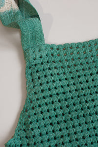 Untitled Co., Dyed Cotton Crochet Top Green