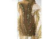 luxe golden gown | handmade beaded | Glam House Fabrics