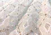 Heavy beaded bridal handmade lace | Flowers pattern | Glam House Fabrics