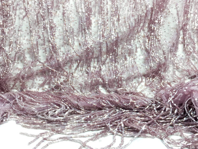 Full Crystal Fringes light purple Handmade lace