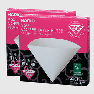 Hario V60 03 Filter Papers - 40 Pack