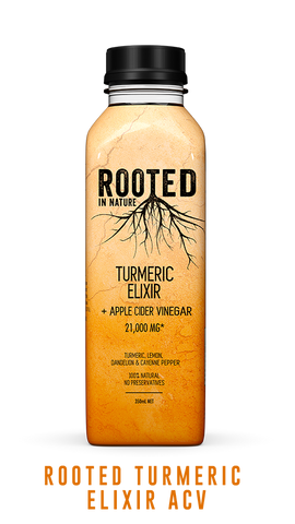 Rooted Turmeric Elixir apple cider vinegar healthy drink