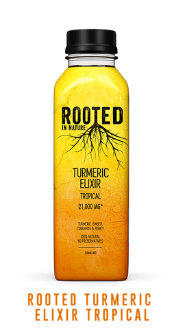 Rooted Turmeric Elixir tropical healthy drink