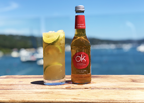 ok kombucha cola & lime healthy drink