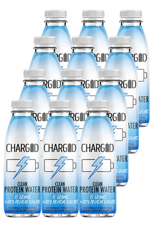 Charged Drinks lemonade Healthy recovery protein water 12 pack