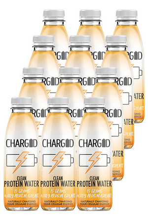 Charged Drinks tropical Healthy recovery protein water 12 pack