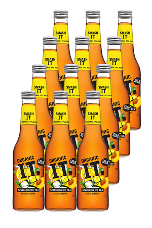 Organic IT ice tea lemon and peach healthy drink 12 pack