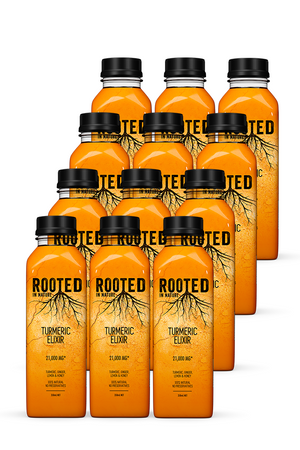 Rooted Turmeric Elixir Healthy Drinks 12 pack