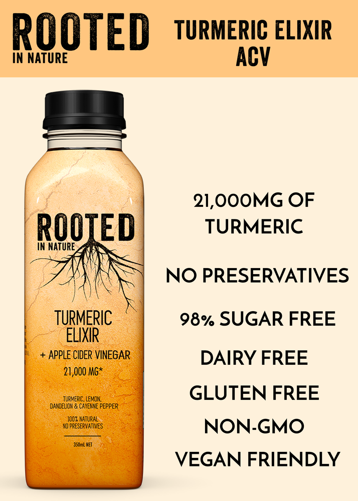Rooted Turmeric Elixir Healthy Drinks Apple Cider Vinegar